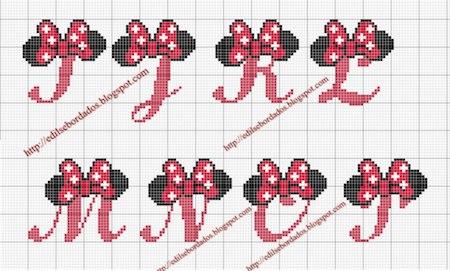 クロスステッチでイニシャル刺繍 〜 かわいいディズニーアルファベットの無料図案