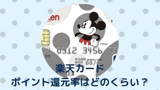 【楽天カード】ポイント還元率はどのくらい?〜ディズニー旅行でメリットはある?